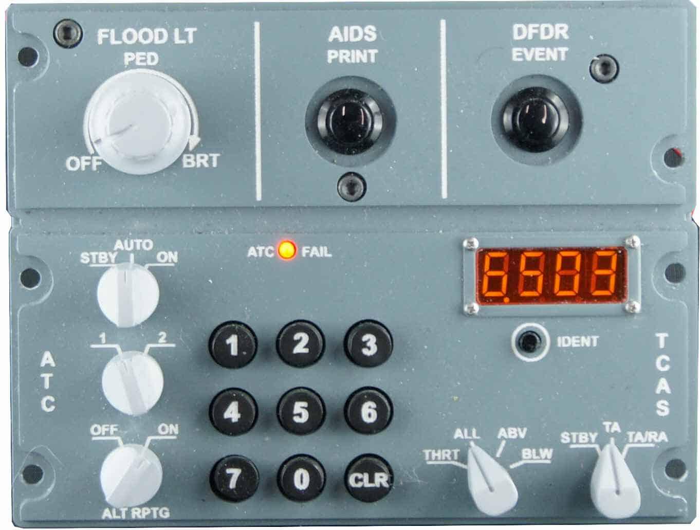 TCAS Transponder ATC Module & FO Lighting Panel